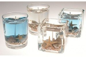 Seashell Gel Candles