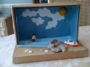 Shoebox Diorama Beach