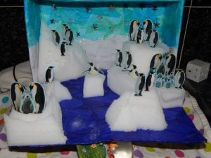 Shoebox Diorama Penguins
