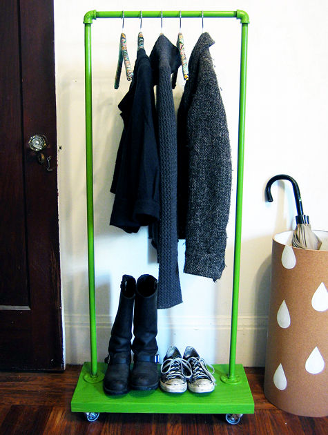 Cast Iron Paint >> 23 Pipe Clothing Rack DIY Tutorials | Guide Patterns