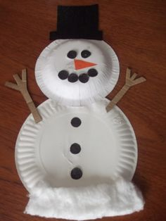 Snowman with Paper Plates & 21 Easy Paper Plate Snowman Ideas For Your Kids | Guide Patterns