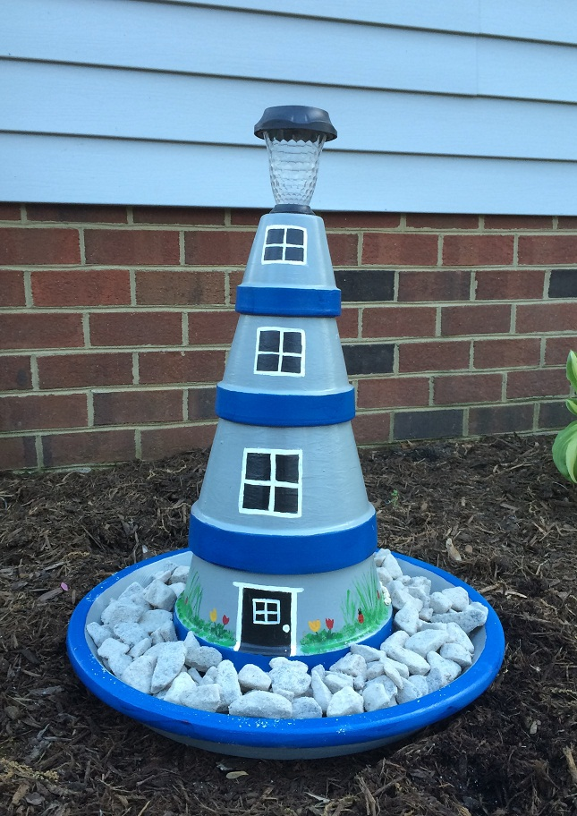 12 Clay Pot Lighthouse Projects For Your Garden Inhabit Zone