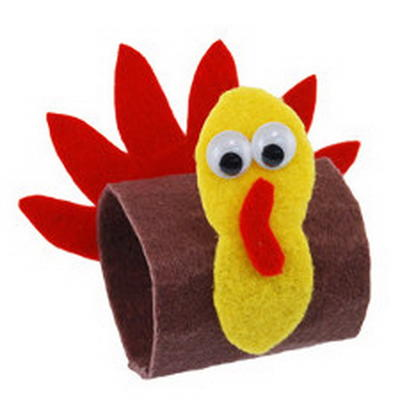 Turkey Crafts Made With Toilet Paper Rolls