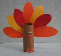 Toilet Paper Roll Turkey Pattern