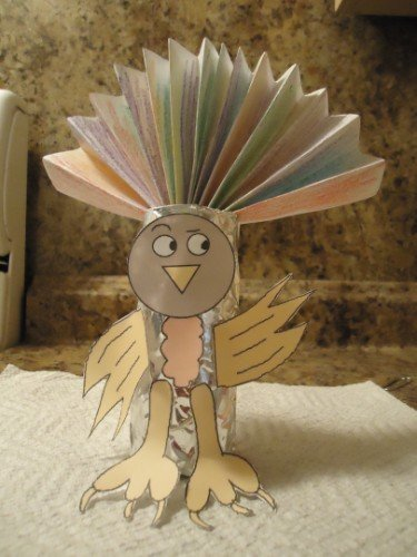 Thankful Turkey Toilet Paper Roll Craft - Mommy Snippets  |Toilet Paper Turkey