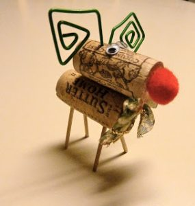 Wine Cork Reindeer Directions