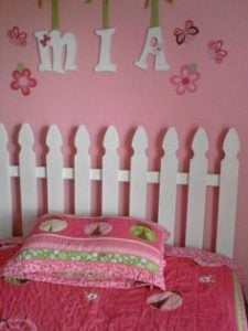 Wooden Picket Fence Headboard