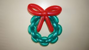 Balloon Christmas Wreath