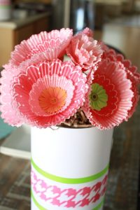 Cupcake Liner Flower Bouquet