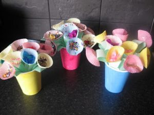 Cupcake Liner Flowers for Mother's Day