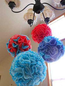 Cupcake Paper Flower Balls