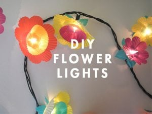 Cupcake Paper Flower Lights