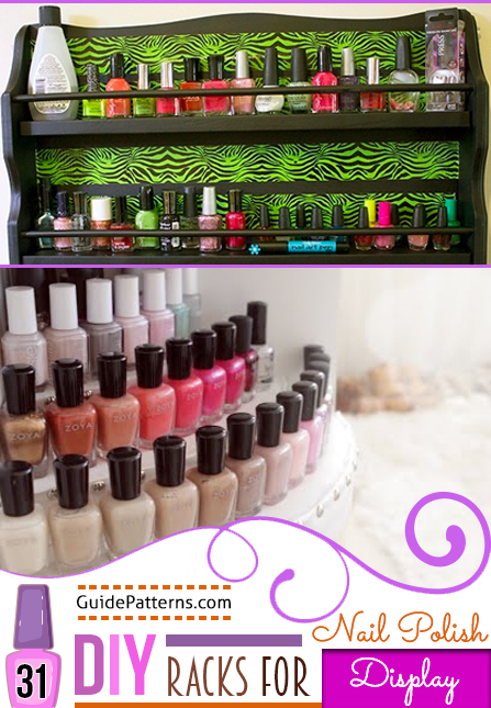 31 diy racks for nail polish display guide patterns solutioingenieria Images