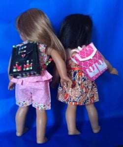 Duct Tape Backpack for Dolls