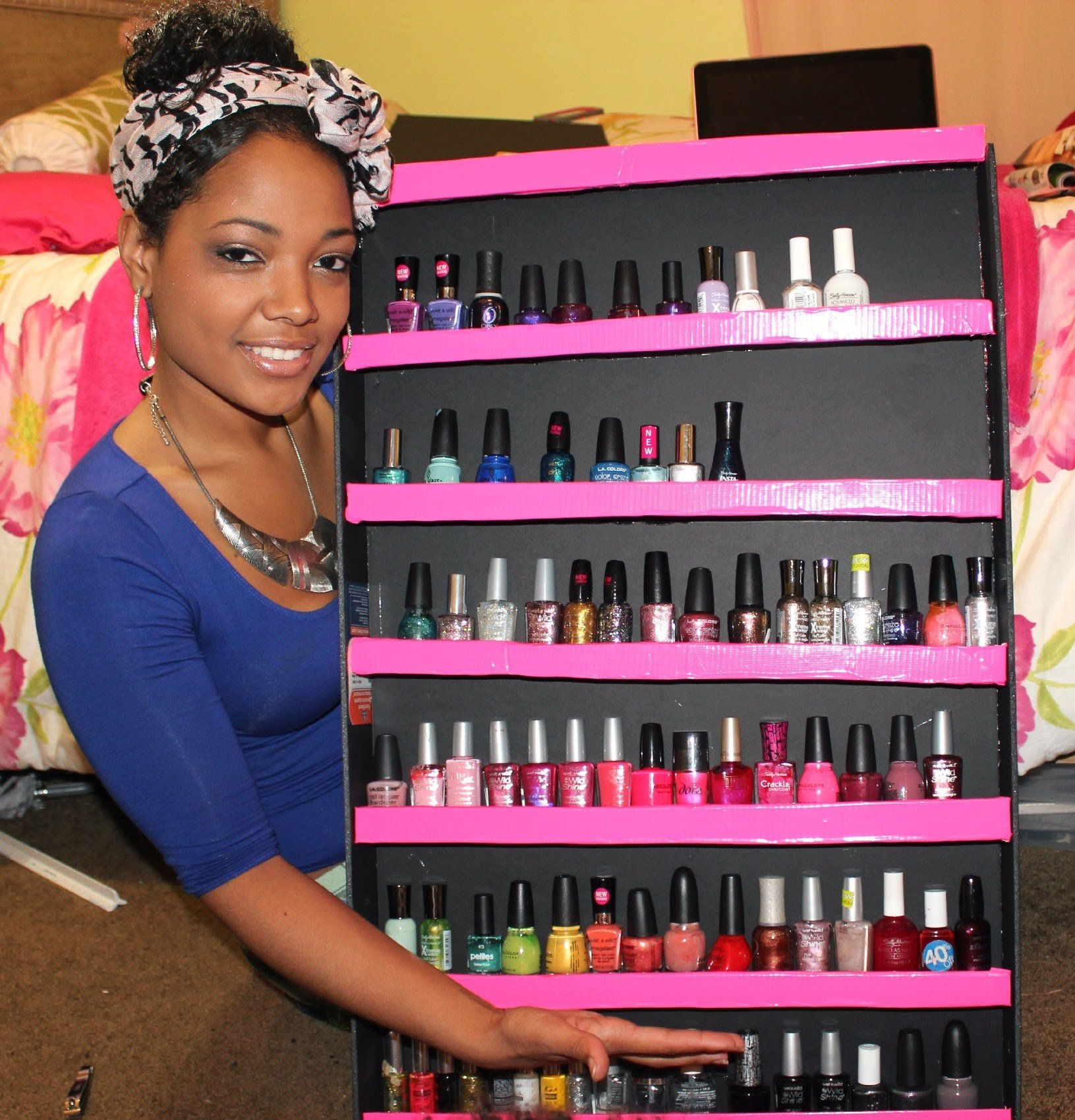 how to build a nail polish rack