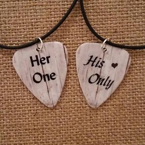 Guitar Pick Necklace for Couples