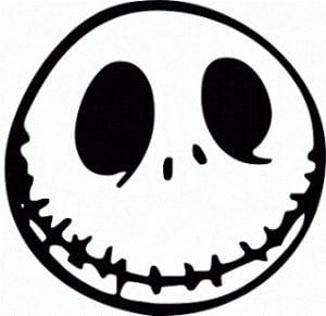 Happy Jack Skellington Stencil Pumpkin