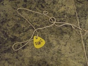 Homemade Guitar Pick Necklace