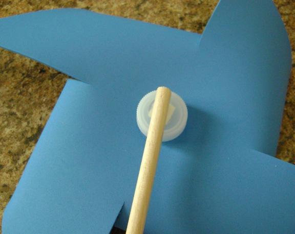 how to make a paper windmill without a pin
