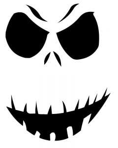 Jack Skellington Pumpkin Carving Stencil