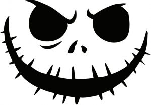 Jack Skellington Pumpkin Carving Stencil Picture