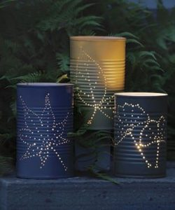 LED Tin Can Lanterns