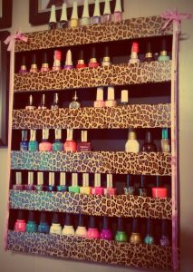 Leopard Nail Polish Rack