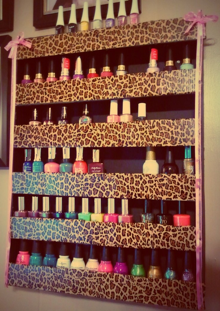 31 DIY Racks for Nail Polish Display