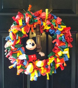 Mickey Balloon Wreath
