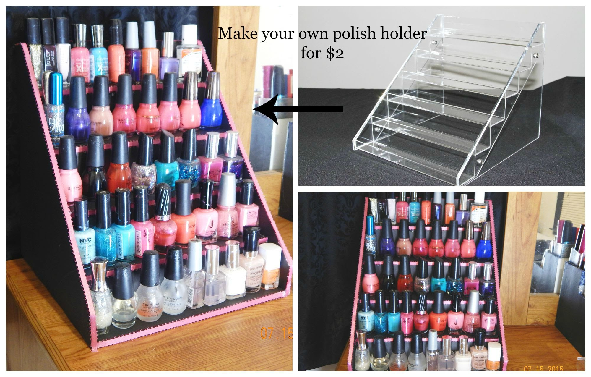 31 diy racks for nail polish display guide patterns for Organiser un stand