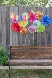 Paper Pinwheel Decorations