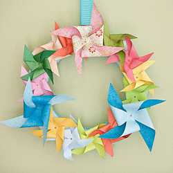 Paper Pinwheel Wreath