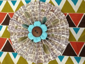 Paper Pleated Pinwheel