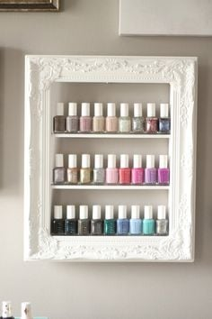 31 Diy Racks For Nail Polish Display Guide Patterns