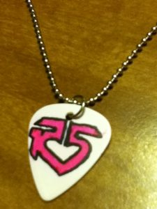 R5 Guitar Pick Necklace