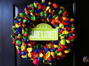 Sesame Street Balloon Wreath