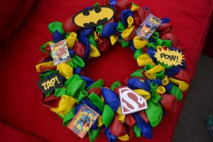 Superhero Balloon Wreath