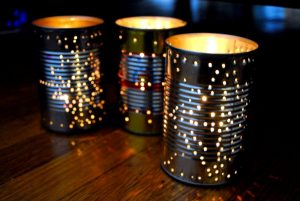 Making Tin Can Lanterns