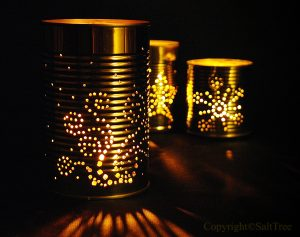 Tin Can Lantern Christmas Patterns