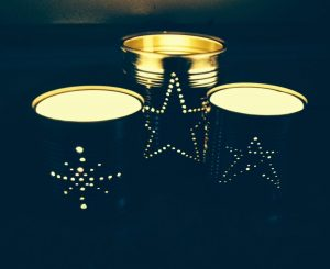 Tin Can Lanterns for Wedding
