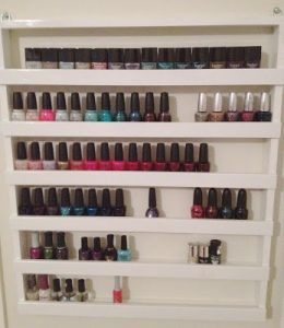 Wall Mount Nail Polish Rack