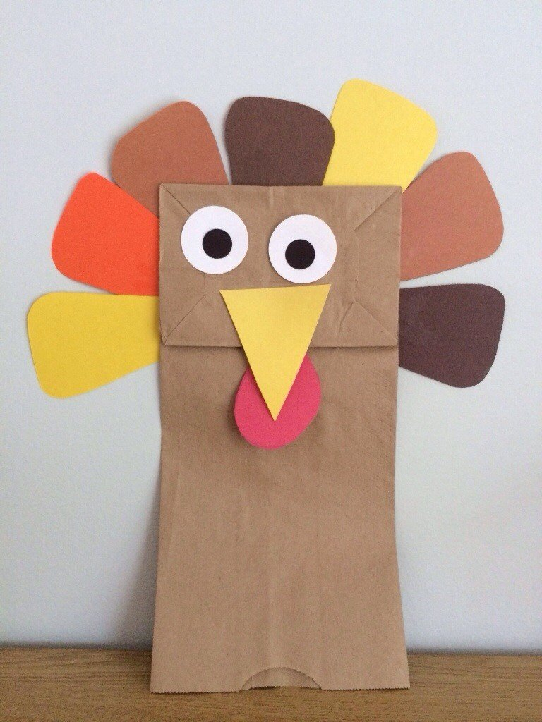 20 fun and crafty paper bag turkey projects guide patterns for Brown paper bag crafts for preschoolers