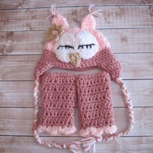 Crochet Owl Hat and Leg Warmers