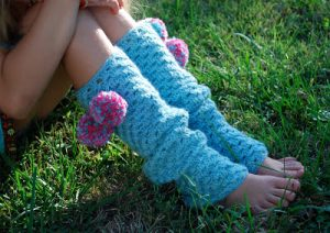 Crochet Striped Leg Warmers Pattern
