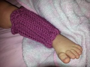 Crochet Toddler Leg Warmer