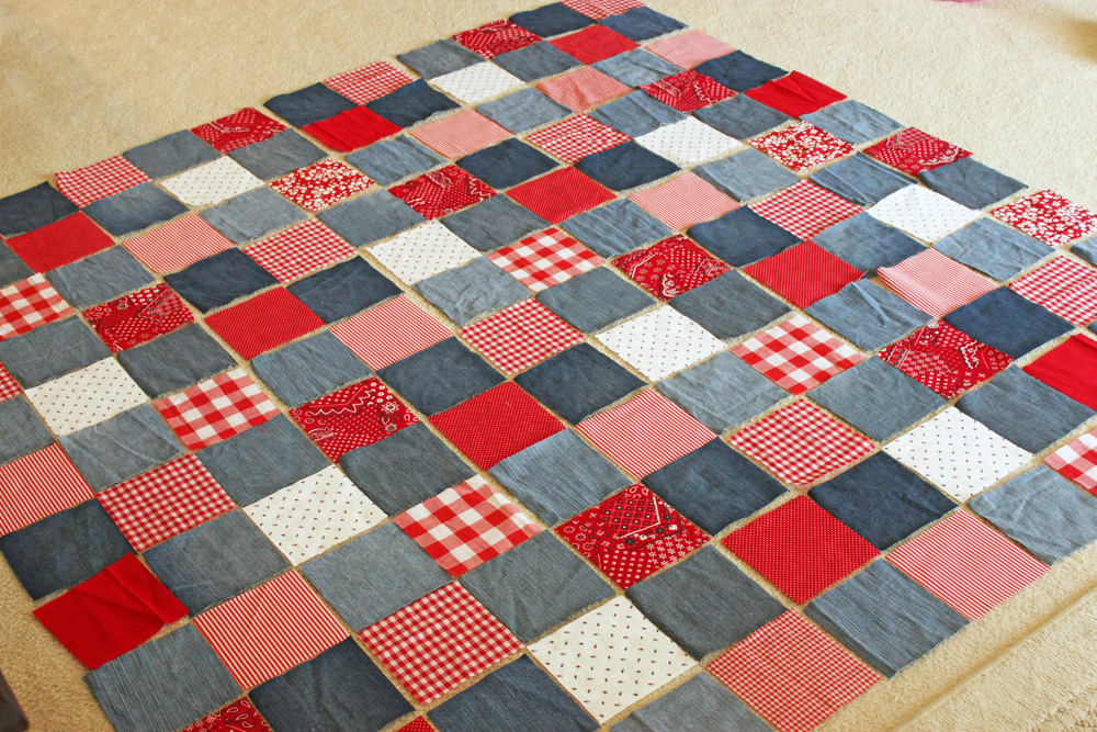 sized king blue with denim flannel backed quilt idealeon quilts red and white almost finished large