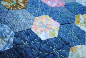 Denim Hexagon Quilt