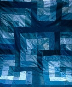 Denim Log Cabin Quilt Pattern