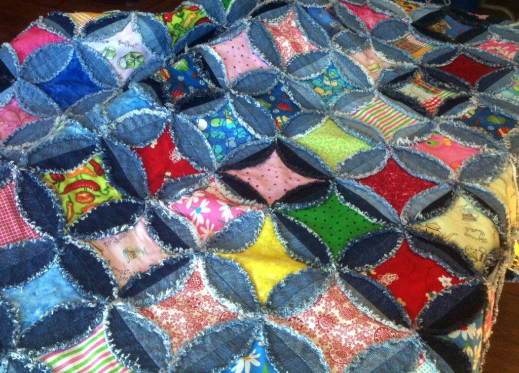id denim quilts lap frayed quilt