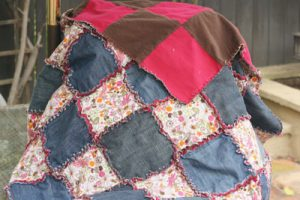 Upcycled Denim Rag Quilt